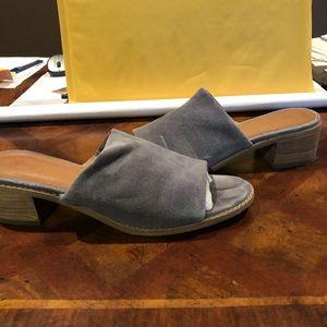 Frye women's one band sandals sz 8 grey